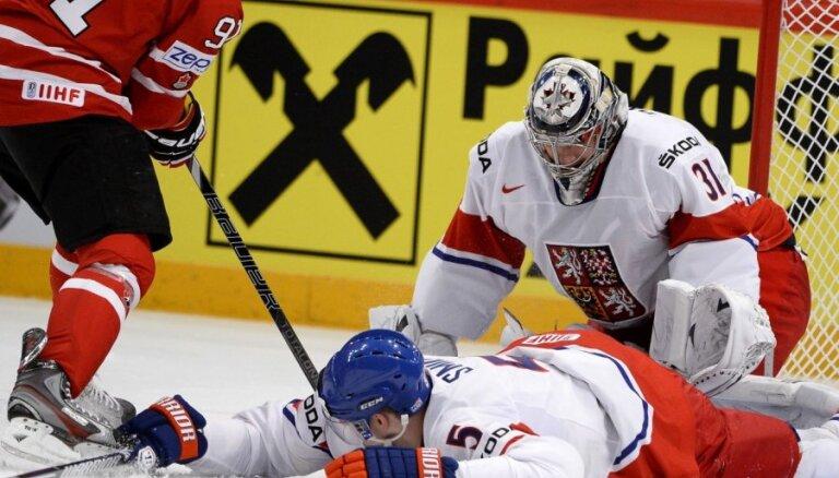Čehija pēc zaudējuma Kanādai sarežģī sev iespējas iekļūt ceturtdaļfinālā