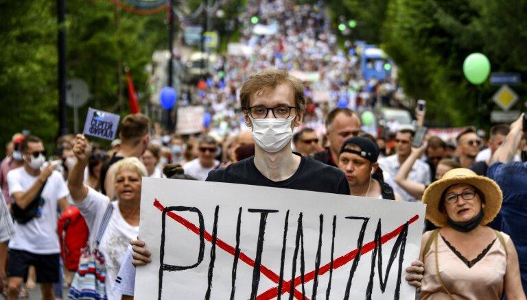 Habarovskas protesti: Kā opozīcija uzlauza Putina sistēmu