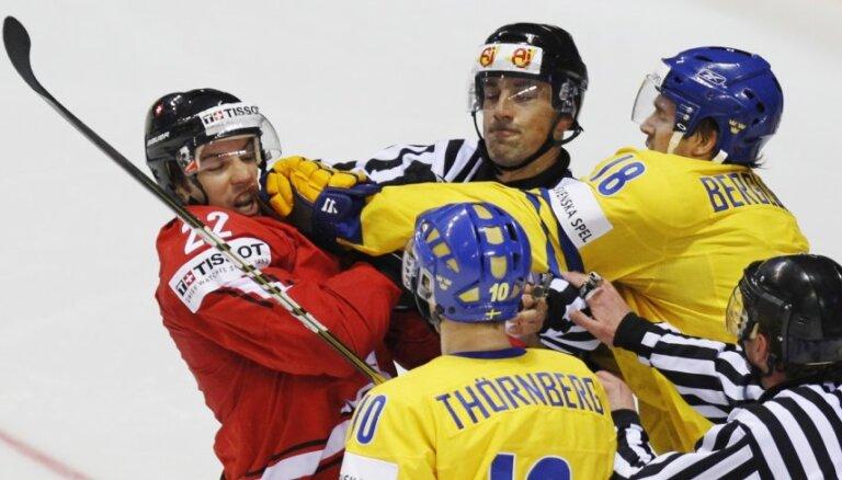 VIDEO: Zviedrija pēc uzvaras pār Šveicie iekļūst ceturtdaļfinālā