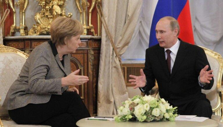 Путина встретили в Германии акцией протеста