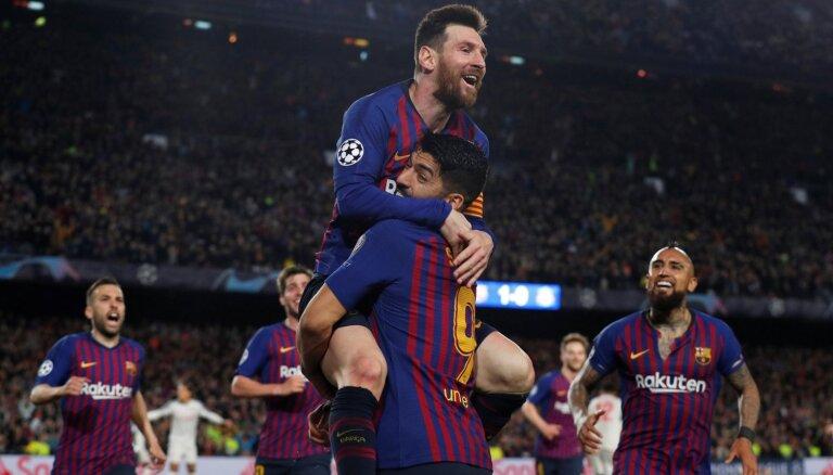 Mesi ar diviem vārtiem nodrošina 'Barcelona' drošu uzvaru pār 'Liverpool'