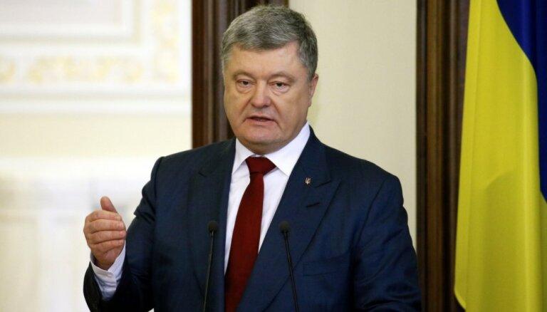 Porošenko aicina Vāciju atteikties no 'Nord Stream 2'