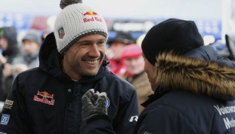 Zviedrijas WRC rallija testa ātrumposmā uzvar Ožjērs