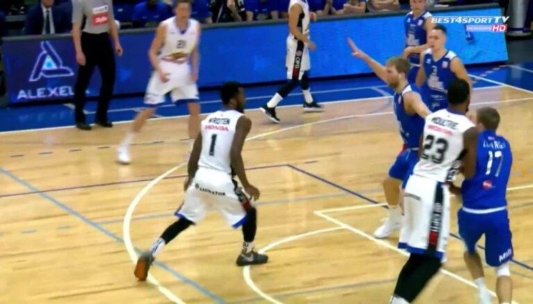 'OlyBet' basketbola līga: 'Ogre' - 'Kalev/Cramo'. Spēles labākie momenti (06.02.2019.)
