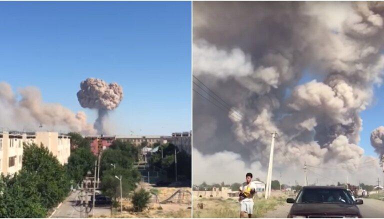Kazahstānā pēc sprādziena munīcijas noliktavā 71 ievainotais un viens bojāgājušais