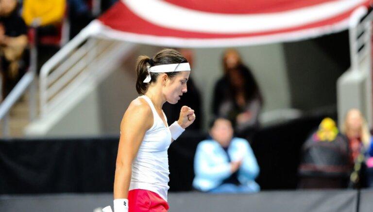 Sevastova un Ostapenko WTA rangā pozīcijas nemaina