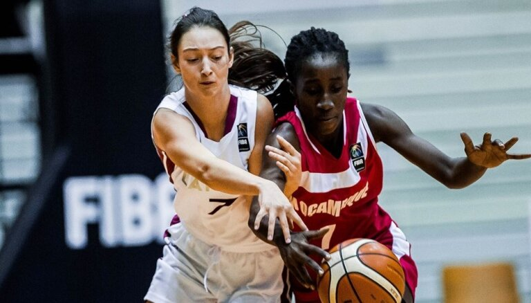 Latvijas basketbolistes PK cīnīsies par 13. vietu; Melderei ceturtais 'double-double'