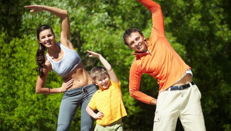 Aicina uz ģimenes sporta dienu atklāšanu Māras dīķa parkā