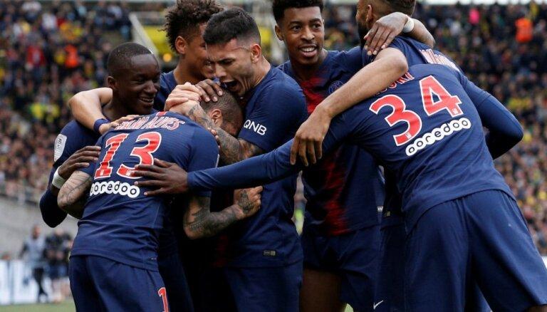 Parīzes 'Saint-Germain' astoto reizi vēsturē kļūst par Francijas čempioniem