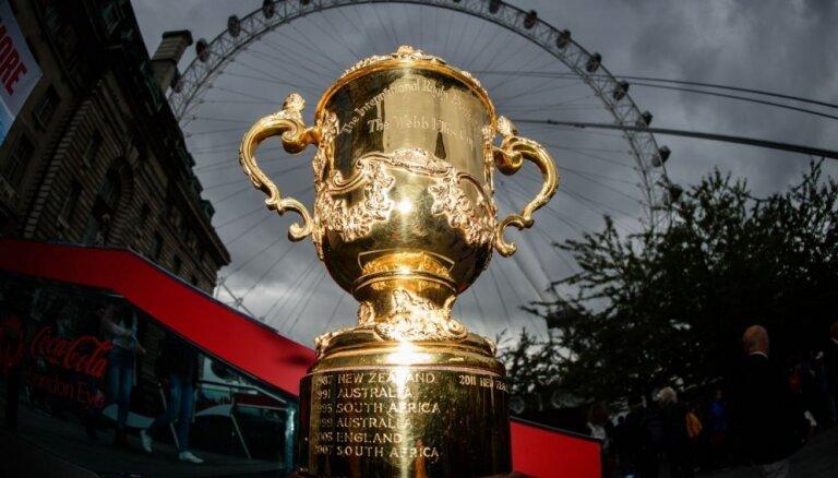 Taifūna dēļ atceltas divas spēles Pasaules kausā regbijā
