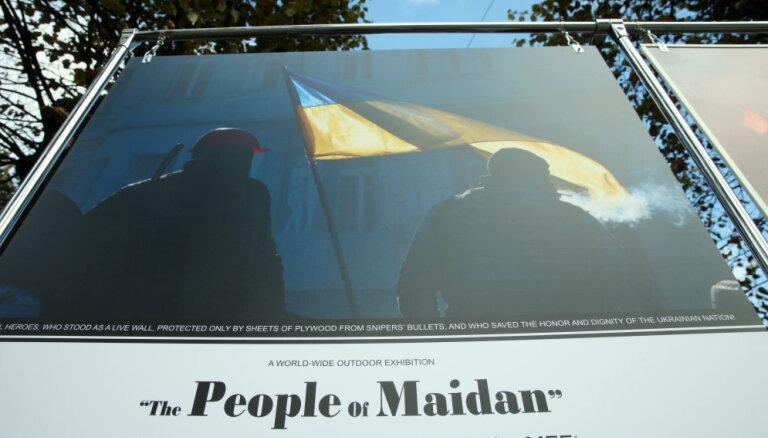"""Выставка """"Люди Майдана"""" переехала в Елгаву, охрану обеспечат байкеры"""