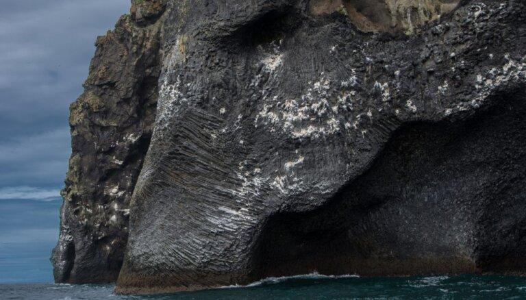 Klints Islandē, kas atgādina ziloni