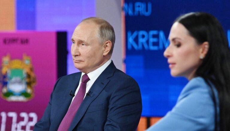 Putina 'tiešās līnijas' pārraidei notikuši kiberuzbrukumi