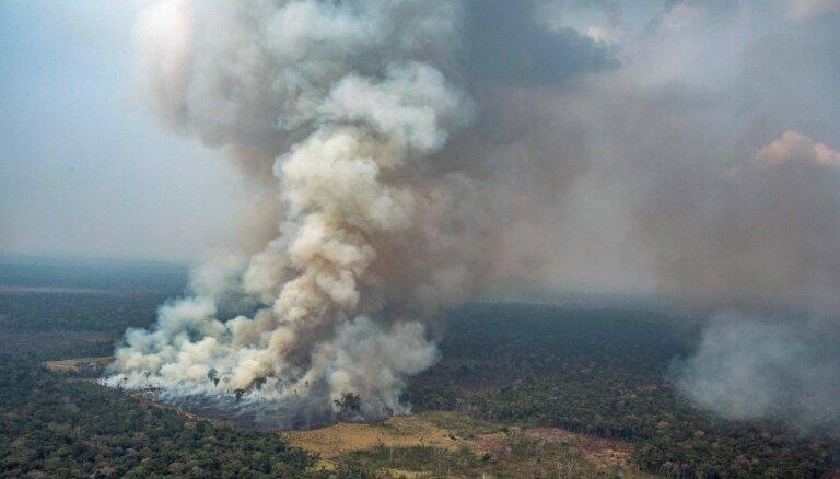 Amazones lietusmežos izcēlušies jauni ugunsgrēki; dzēšanas darbos iesaistās armija