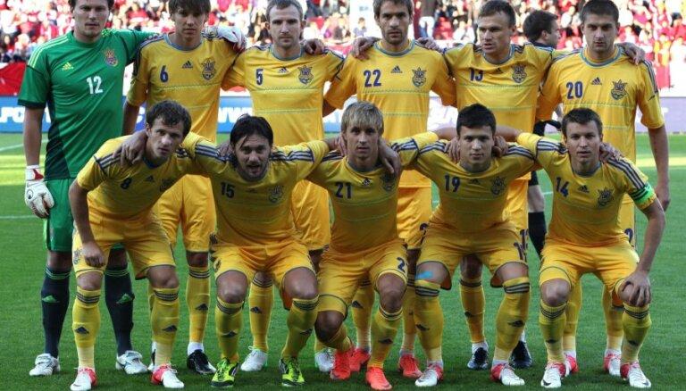 Ukrainas izlases futbolisti saindējas pirms EURO 2012