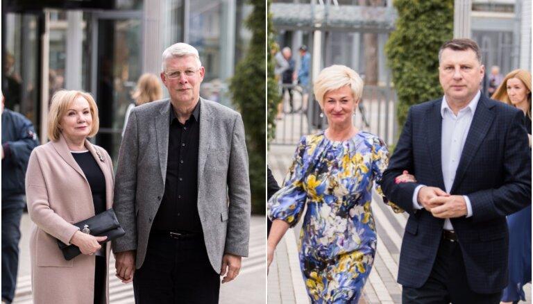 Zatlers, Vējonis un viņu kundzes: prominences mirdz Dzintaru koncertzālē