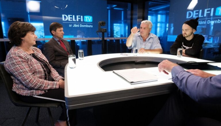 'Delfi TV ar Jāni Domburu' diskusija – ko sagaidām kultūrā, integrācijā, medijpolitikā