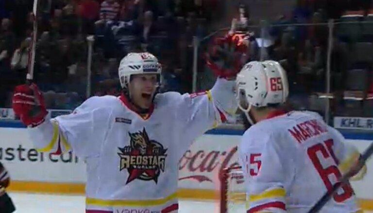 Ķīnas klubs 'Red Star' KHL debitē ar uzvaru