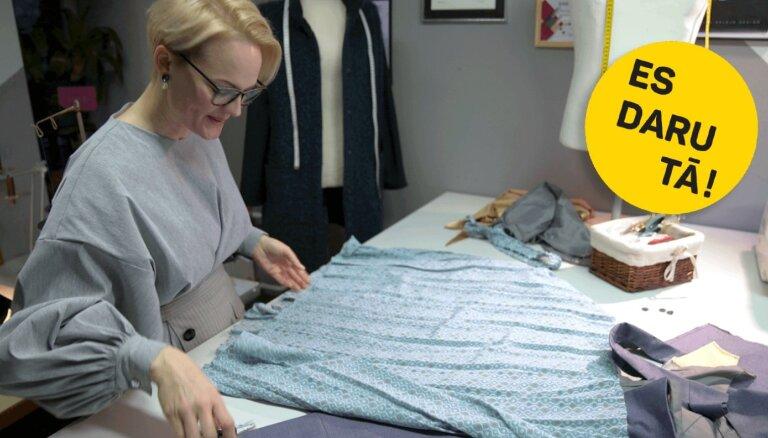 Video: Drēbnieces Kristīnes Kalējas rokās nevajadzīgs apģērbs iegūst otru dzīvi