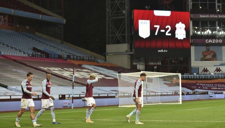 Neticamākās piecas stundas Anglijas premjerlīgā - 'Manchester United' un 'Liverpool' ielaiž 13 vārtus