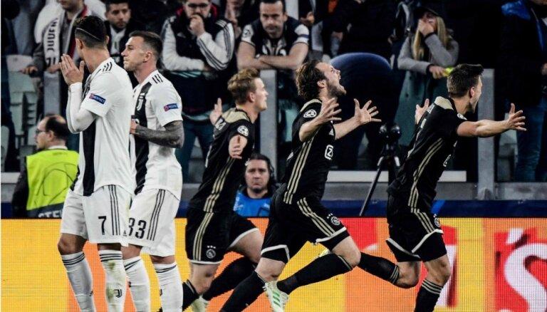 'Ajax' šokē arī Ronaldu un Turīnu, iekļūstot Čempionu līgas pusfinālā