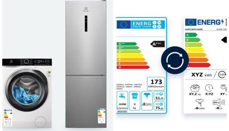 No 1.marta sadzīves tehnikai ir jauns energoefektivitātes marķējums
