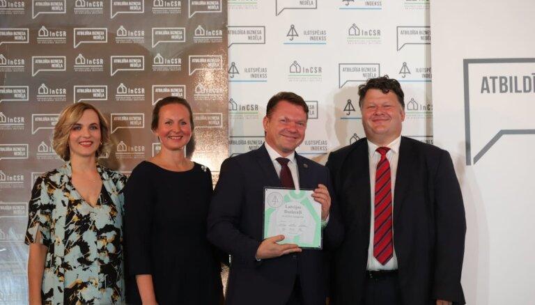 'Latvijas dzelzceļa' koncerna uzņēmumi saņem augstus Ilgtspējas indeksa apbalvojumus