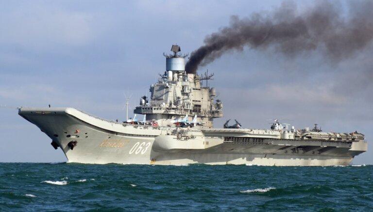"""Авианосец """"Адмирал Кузнецов"""" и крейсер """"Петр Великий"""" в январе могут вернуть из Сирии в Россию"""