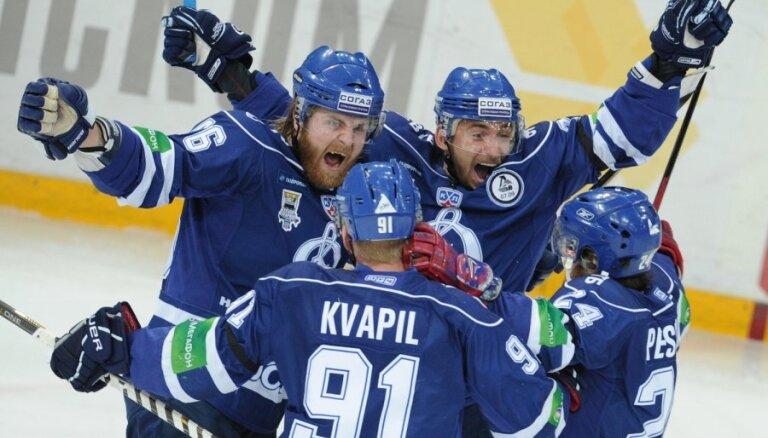 Znaroka un Vītoliņa vadītā Maskavas 'Dinamo' sagādā septīto spēli KHL finālsērijā