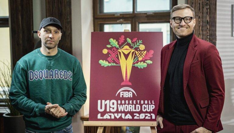 Foto: Par Latvijā gaidāmā U-19 Pasaules kausa basketbolā logo pamatu izvēlēts ozols