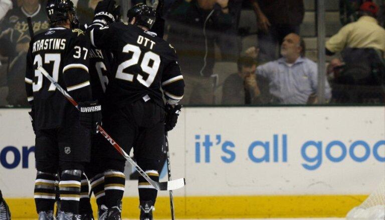 Uzvaru sēriju turpina Skrastiņa 'Stars'; 'Flyers' kļūst par NHL līderiem