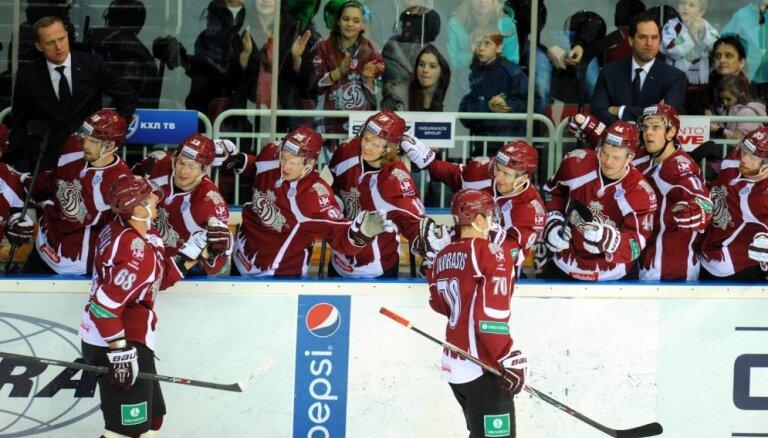 Rīgas 'Dinamo' savā laukumā uzņem 'Severstaļ' hokejistus