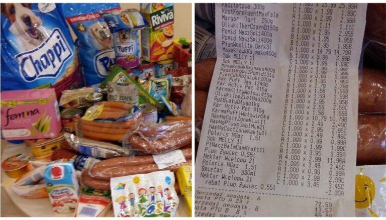 Жительница Вильнюса показала, что купила в Польше за 50 евро