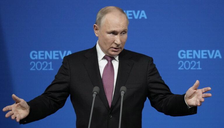 Runas par manu mantinieku destabilizē Krieviju, pauž Putins