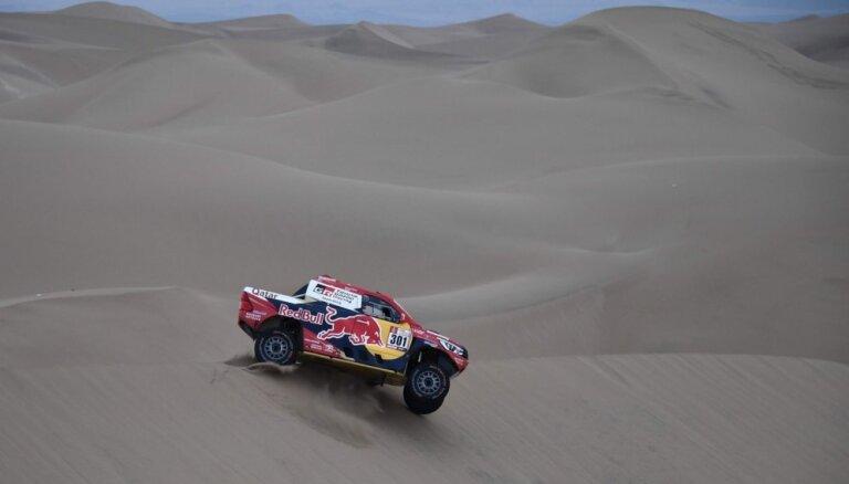 Peteransels pārņem vadību pēc Dakaras rallija trešā ātrumposma, kurā uzvar Al-Atija