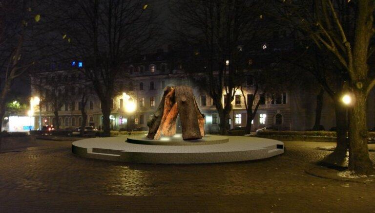 Ojārs Feldbergs Neatkarības laukumam vēlējies piedāvāt skulptūru 'Ugunskurs'
