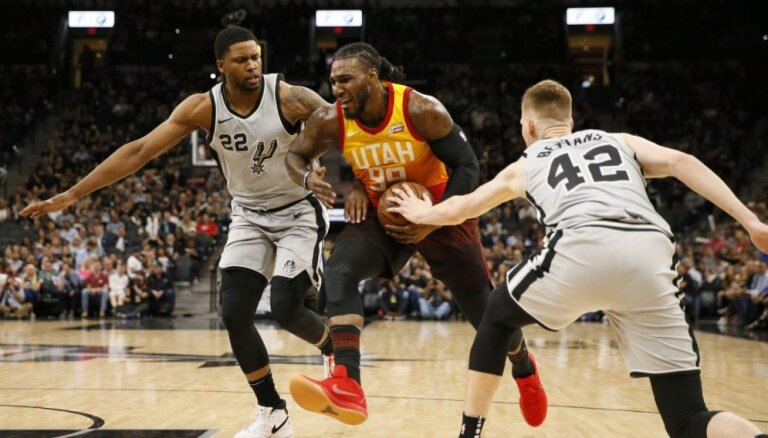Bertānam trīs punkti 'Spurs' sestajā uzvarā pēc kārtas