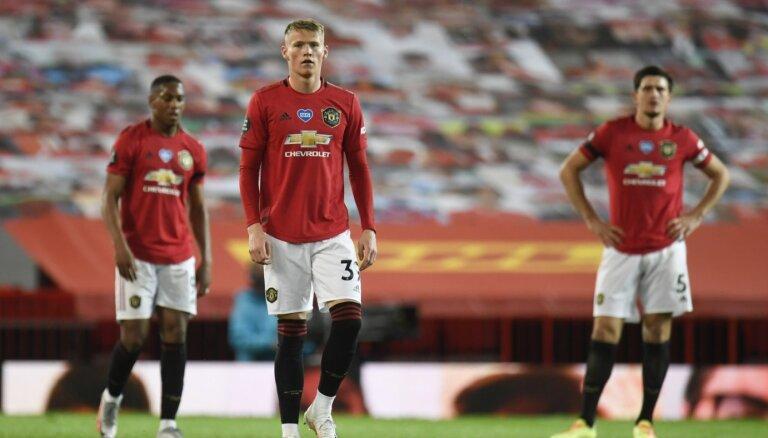 'Manchester United' pēdējās minūtēs izlaiž uzvaru un neiekļūst Čempionu līgas zonā