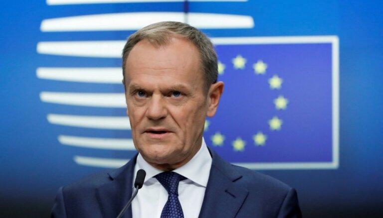 Tusks aicinās Lielbritānijai piešķirt ilgāku laiku 'Brexit' stratēģijas pārdomāšanai