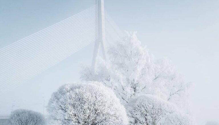 Foto: Ziemas pasaka Rīgas centrā un Vecāķos – aculiecinieka acīm