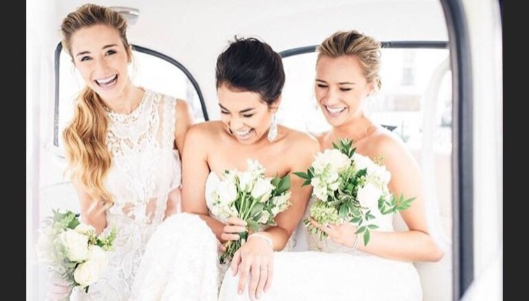Свадебным платьям пришили необычную деталь