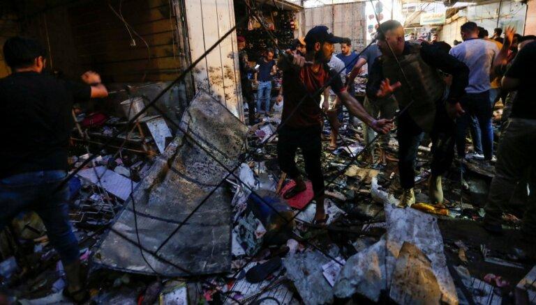 Sprādzienā Bagdādes tirgū nogalināts 21 cilvēks