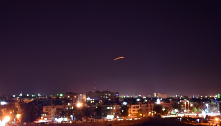Sīrija atvairījusi Izraēlas gaisa uzbrukumus Alepo provincē, apgalvo Damaska