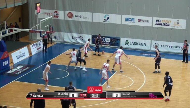 'OlyBet' basketbola līga: 'Liepāja' - 'Tal Tech'. Spēles labākie momenti