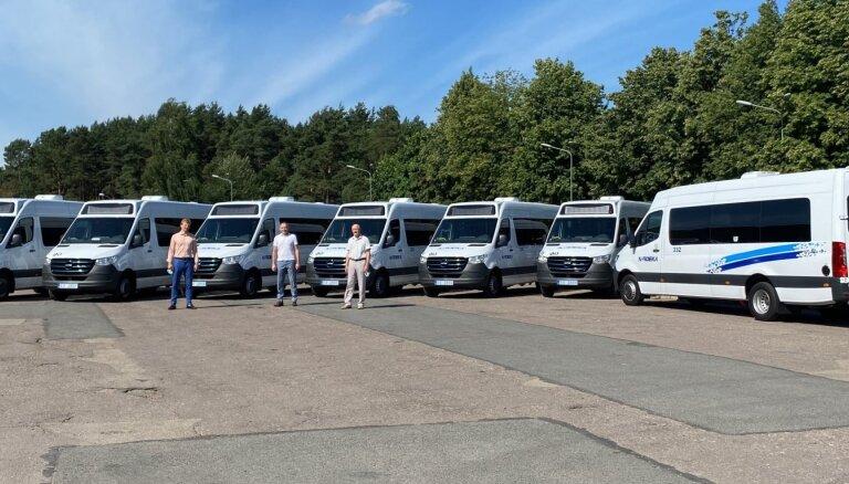 'Nordeka' saņem pirmos septiņus elektriskos pasažieru mikroautobusus
