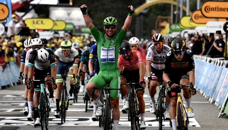 Skujiņš 'Tour de France' desmitajā posmā ierindojas 103.vietā; Kavendišam jau trešā uzvara