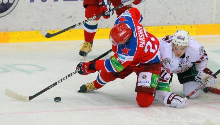Divi noraidījumi iegāž Rīgas 'Dinamo' spēlē pret Šuplera CSKA