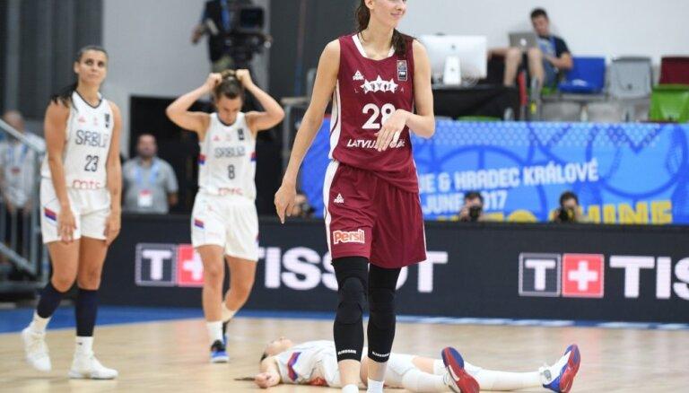 ВИДЕО, ФОТО: Как зажигала Кристине Витола в матче с Сербией