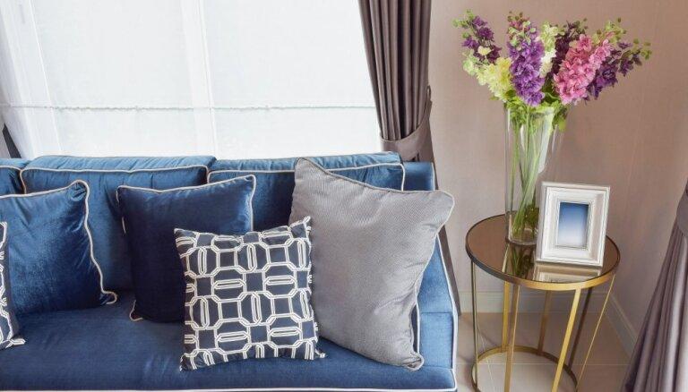 Karaliski zilā krāsa interjerā – izsmalcinātas gaumes izvēle