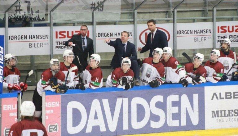 Latvijas U-20 hokeja izlase pasaules čempionātu sāk ar zaudējumu Francijai